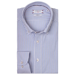 Giordano Shirt - Sky Blue Candy Stripe - 3XL Only