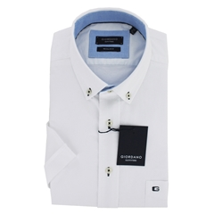 New 2019 Giordano Short Sleeve Shirt - White Oxford