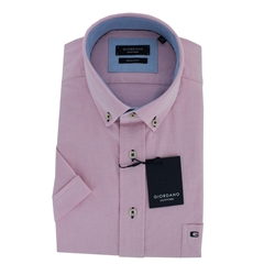 Giordano Short Sleeve Shirt - Pink Oxford
