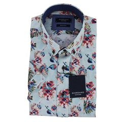 New 2019 Giordano Short Sleeve Shirt - Leaf Print