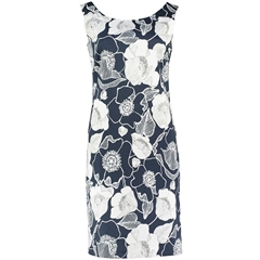 Spring 2019 Pomodoro Dress - Shift Dress - Navy