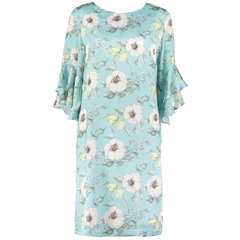 Spring 2019 Pomodoro Dress - Petal Frill Dress - Duck Egg