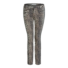 Oui Leopard Print Baxtor Jeggings - Slim Fit