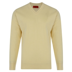 Gabicci Half V Neck Sweater - Corn