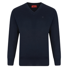 Gabicci Half V Neck Sweater - Navy
