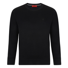 Gabicci Half Crew Neck Sweater - Black
