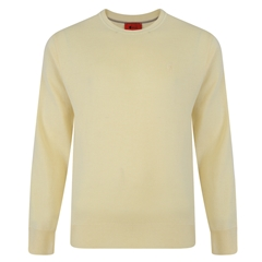 Gabicci Half Crew Neck Sweater - Corn