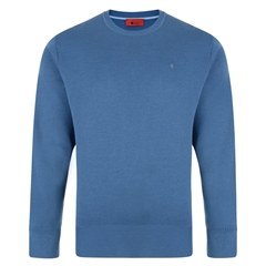 Gabicci Half Crew Neck Sweater - Denim