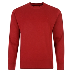 Gabicci Half Crew Neck Sweater - Red