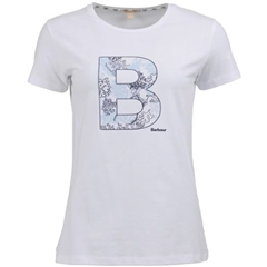 New 2019 Barbour Backshore Tee - White