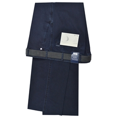 Bruhl Stretch Denim Trouser - Navy - Montana 191010 935