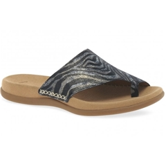 Gabor Lanzarote Toe Post Flat Sandals - Animal Print
