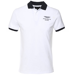Spring 2019 Hackett Aston Martin Polo - Optic White