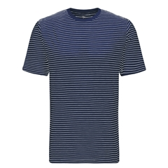 Spring 2019 Fynch Hatton Striped Cotton T-Shirt - Midnight Blue