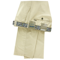 Meyer Cotton Trouser - Light Cream - Rio 3117 32