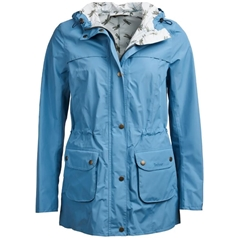 New 2019 Barbour Women's Waterproof Jacket - Aire - Blue