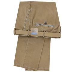 Meyer Summer Cotton Trouser - Caramel - New York 5001 43