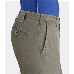 New 2019 Meyer MMX Cotton Micro-Pattern Trouser - Taupe - Lupus 7002 36