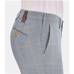 New 2019 Meyer MMX Cotton Trouser - Blue and Beige Plaid Check - Lupus 7015 44