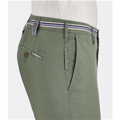 New 2019 Meyer MMX Washed Cotton Shorts - Olive Green - Tigris 7003 27