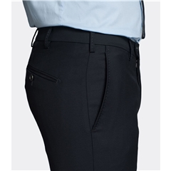 New 2019 Meyer MMX Super 120s Pure Wool Trouser - Navy Blue - Lynx 7700 19