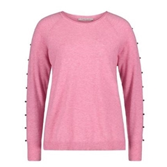 Betty Barclay - Beaded Knit Jumper - Pink