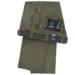 Bruhl Cotton Summer Trouser - Khaki Green - Catania 182970 420