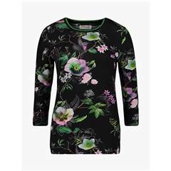 Betty Barclay - Basic Floral Print T-shirt - Black