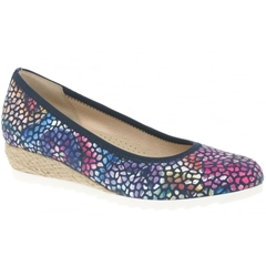 Gabor Epworth Mosaic Wedge - Navy