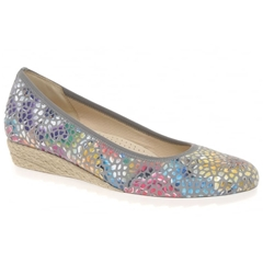Gabor Epworth Mosaic Wedge - Grey