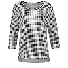 Gerry Weber Gingham Check Top - Black/Ecru
