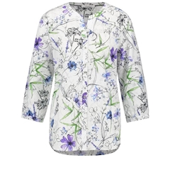 Gerry Weber Floral Blouse - White