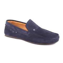 Dubarry Men's Suede Loafer Shoes Tobago - French Navy