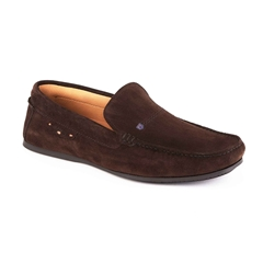 Dubarry Men's Suede Loafer Shoes Tobago - Cigar Brown