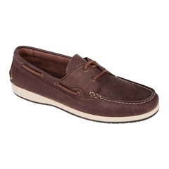 Dubarry Men's Nubuck Deck Shoes Pacific - Donkey Brown