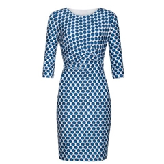 Smashed Lemon Polka Dot Dress - Blue