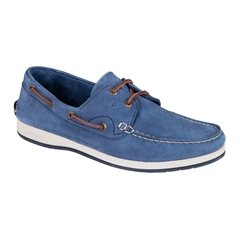 Dubarry Men's Nubuck Deck Shoes - Pacific - Denim Blue