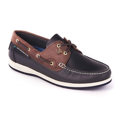 Dubarry Men's Tri-Tone Deck Shoes - Sailmaker - Navy and Brown