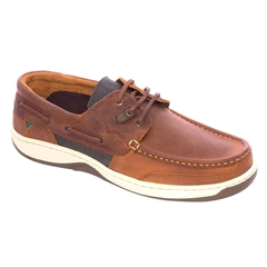Dubarry Men's Deck Shoes - Regatta - Whiskey Brown