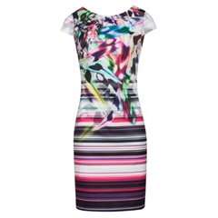 Smashed Lemon Neon Dress - Multi