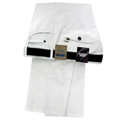 Meyer Summer Stretch Denim Trouser - White - Dubai 4103 40