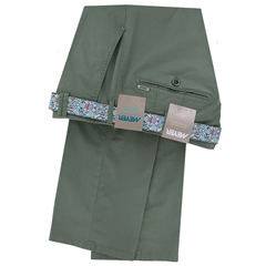 Meyer Cotton Trouser - Olive Green - Rio 3117 26