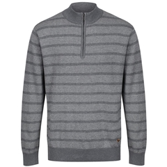 Dubarry Men's Half-Zip Striped Sweater - Abbeyville - Grey