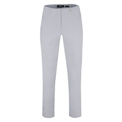 Robell Trousers - Bella Ankle-Length Trouser - Silver Grey