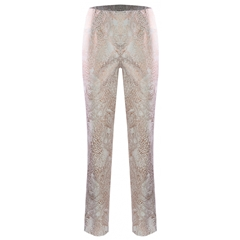 Robell Trousers - Bella - Gold Metallic Paisley