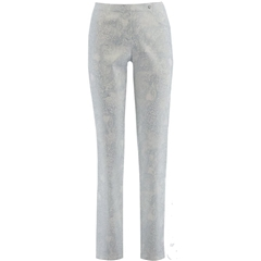 Robell Trousers - Bella - Silver Metallic Paisley