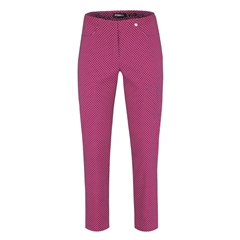 Robell Trouser - Bella - Pink Mini Triangles Design
