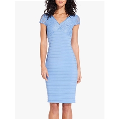 Adrianna Papell Lace Shift Dress - Blue