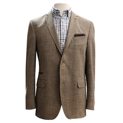 Linen, Cotton & Wool Summer Jacket - Tan
