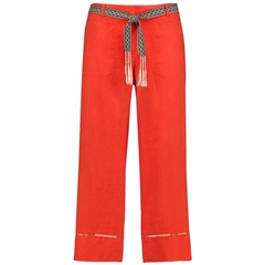 Gerry Weber Pure Linen Trousers - Papaya